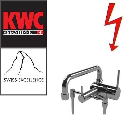 KWC Gastro 205.102 C Niederdruck-Thekenarmatur mit Unterspülrohr zweifach - Einhebelmischer