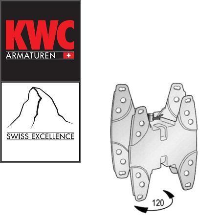 KWC Gastro 30372 408 Wandkonsole für KWC Ausziehbrausen mit Schlauchaufroller - Schwenkkonsole