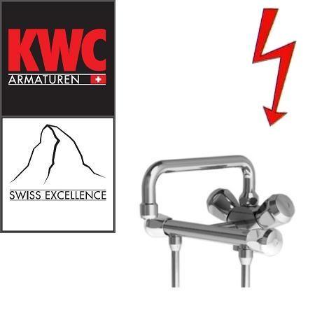 KWC Gastro 105.102 C Niederdruck-Thekenarmatur mit Unterspülrohr zweifach - Zweigriffmischer