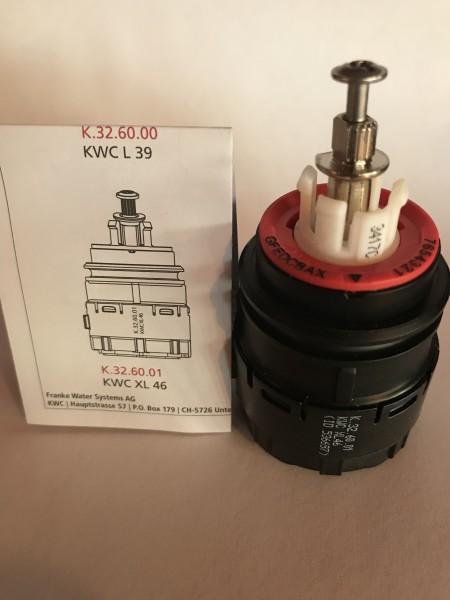 KWC 46mm Hochleisungs-Kartusche K.32.60.01 für Großküchen-Armaturen KWC Gastro, KWC Systema