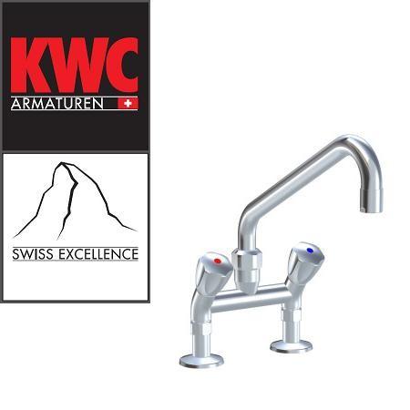 """KWC Gastro K.24.42.41.000C74 3/4"""" Zweigriff-Gastronomiearmatur - Zweiloch - nieder - geneigt"""