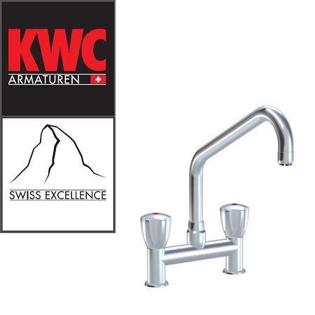 """KWC Gastro K.24.42.K3.000C34 1/2"""" Zweigriffarmatur - Zweiloch - leicht erhöhter Auslauf - gerad"""