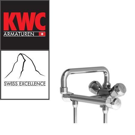 KWC Gastro 100.102 C Thekenarmatur mit Unterspülrohr zweifach - Zweigriffmischer