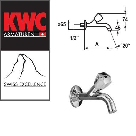 """KWC Gastro K.25.40.02.000C34 1/2"""" Wasserhahn 125 mm - Auslaufhahn - Wandventil"""