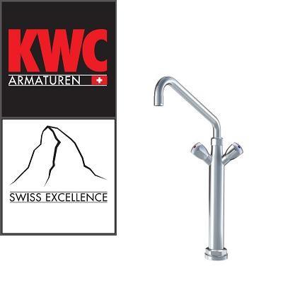 KWC Gastro K.24.41.32.000C07 Gastronomie Zweigriff-Kochblockarmatur mit Vormontagesockel