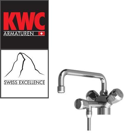 KWC Gastro 100.101 C Thekenarmatur mit Unterspülrohr einfach - Zweigriffmischer